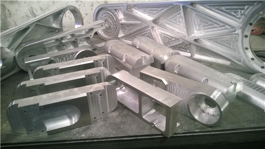 More prototype components from ART's newest 10 axis plasma cutter robotic arm design, machined with RhinoCAM.