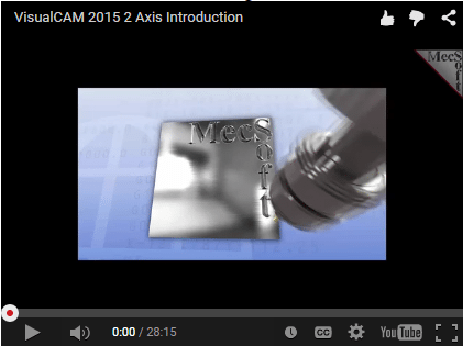 Check out our 2 1/2 axis milling step-by-step tutorials using VisualCAM 2015, RhinoCAM 2015, VisualCAM 2015 for SOLIDWORKS and VisualCAM 2015 in Geomagic.