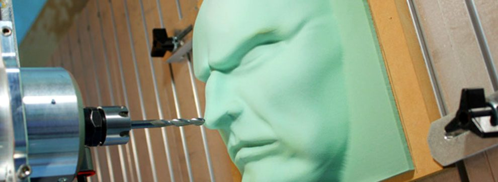 CAM Software from MecSoft was used to construct this 3D foam face. The engineer needed to choose CNC software that he knew would be reliable, RhinoCAM.
